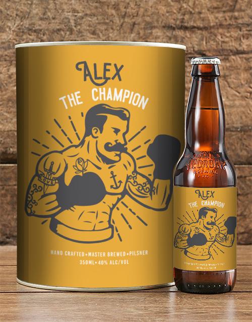 personalised: Personalised Champ Craft Beer!