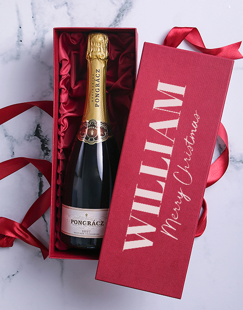 fine-alcohol: Personalised Christmas Bubbly Box!