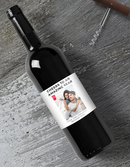 personalised: Personalised Amazing Year Photo Wine!