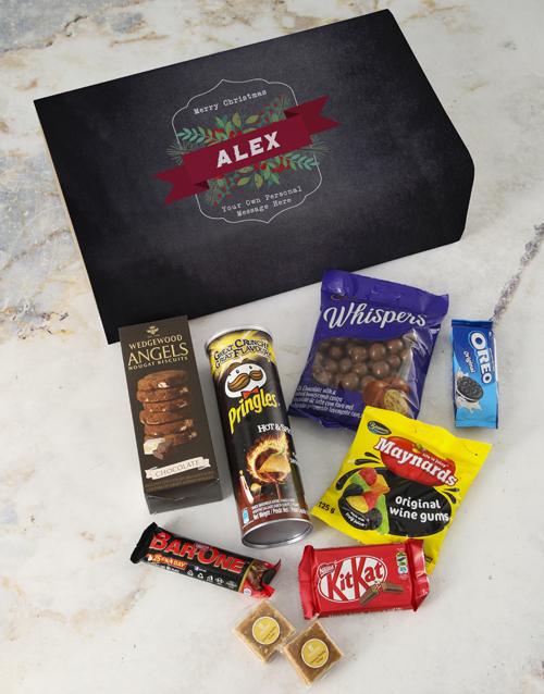 christmas: Personalised Vintage Christmas Gourmet Giftbox!