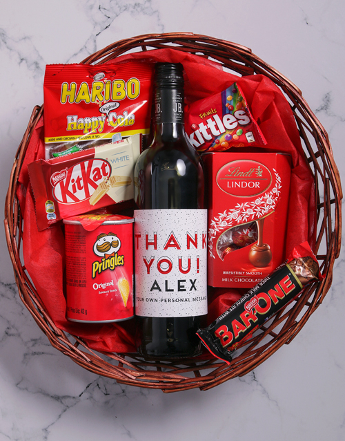 christmas: Personalised Thank You Snack Basket!