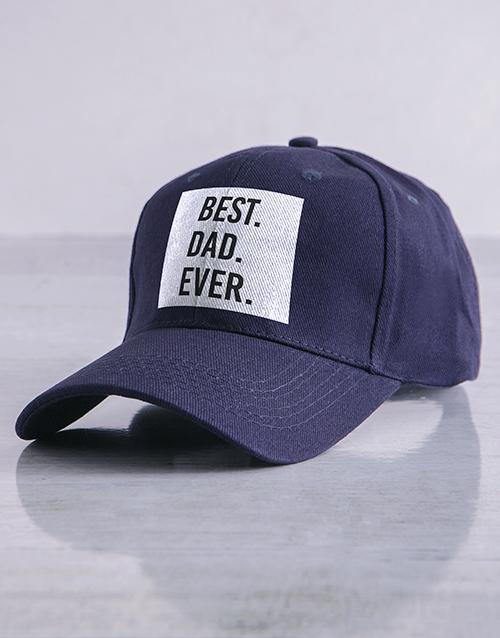 clothing: Personalised Navy Best Ever Peak Cap!