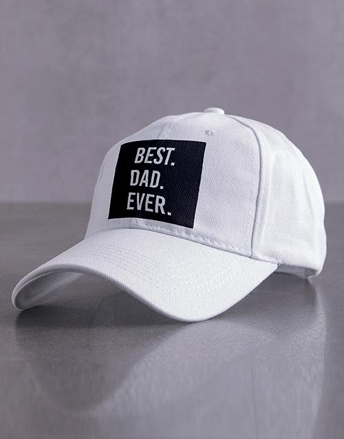 personalised: Personalised White Best Ever Peak Cap!