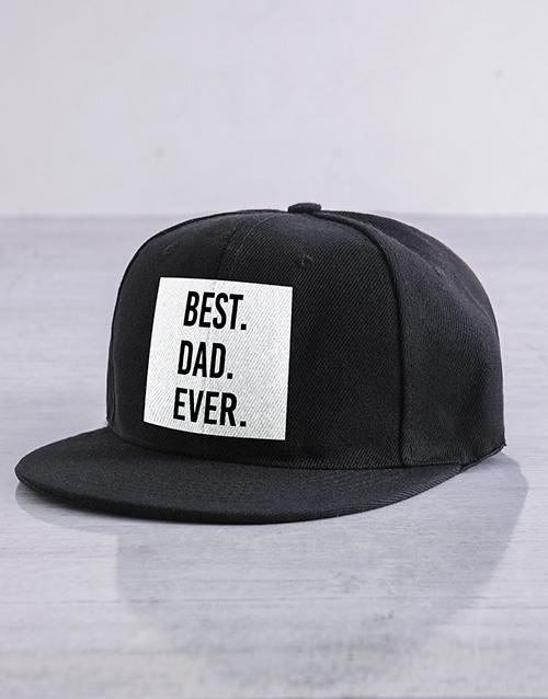 98d89976 Personalised Black Best Ever Flat Peak Cap | Activewear Gifts ...