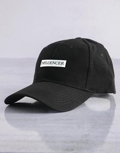 spring-day: Personalised Black Serif Slogan Peak Cap!