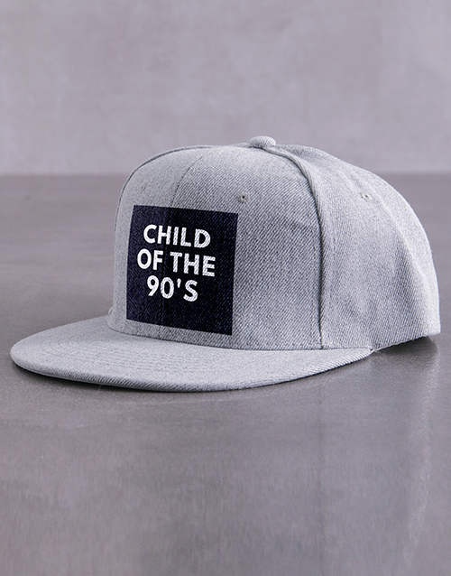 activewear: Personalised Grey Child Of Peak Cap!