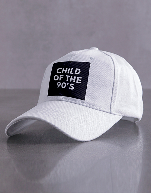 activewear: Personalised White Child Of Peak Cap!