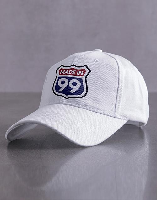 personalised: Personalised White Made In Peak Cap!