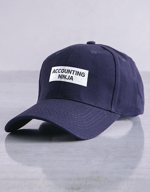 personalised: Personalised Navy Ninja Flat Peak Cap!