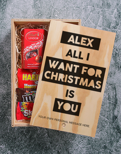christmas: Personalised All I Want For Christmas Man Crate!