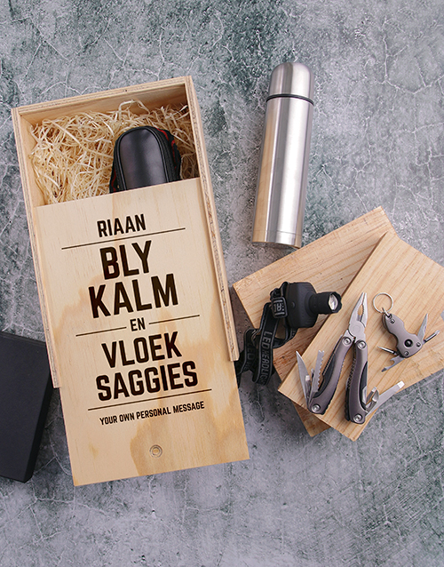 gifts: Personalised Bly Kalm Man Crate!