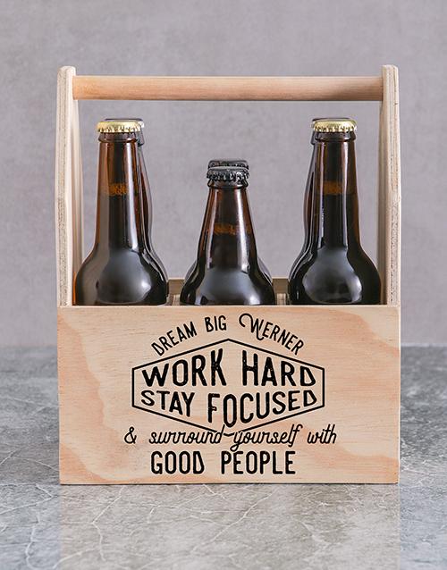 gifts: Personalised Good People Printed Beer Crate!