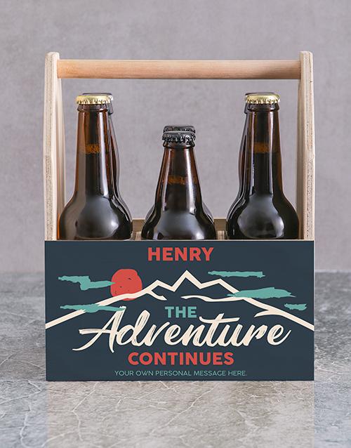 birthday: Personalised Adventure Printed Beer Crate!