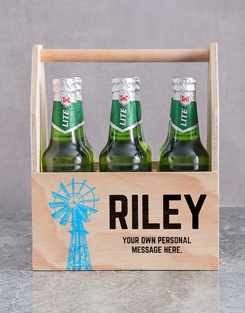 birthday: Personalised Karoo Printed Beer Crate!