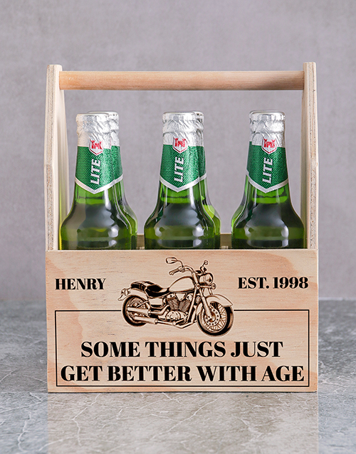 personalised: Personalised Harley Printed Beer Crate!
