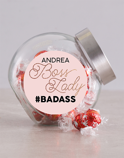 chocolate: Personalised Boss Lady Candy Jar!