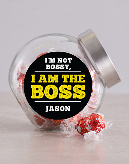 bosses-day: Personalised Not Bossy Candy Jar!