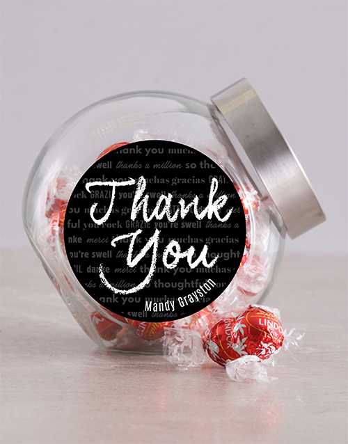 thank-you: Personalised Chalk Thank You Candy Jar!