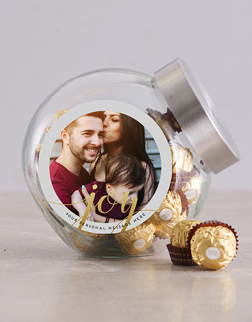 christmas: Personalised Gold Merry Christmas Candy Jar!
