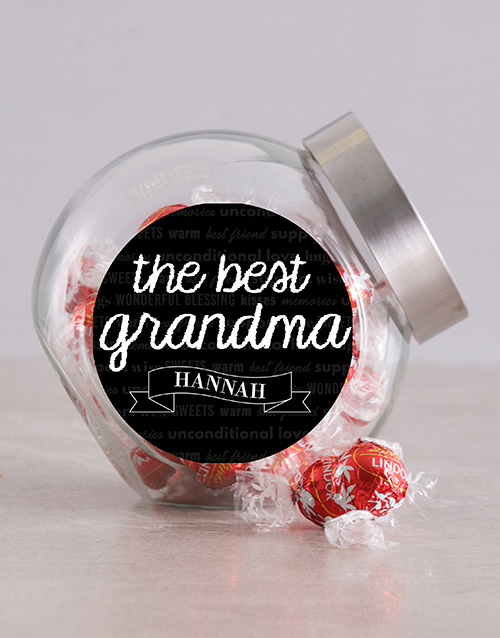 chocolate: Personalised The Best Grandma Candy Jar!