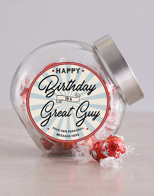 birthday: Personalised Vintage Happy Birthday Candy Jar!
