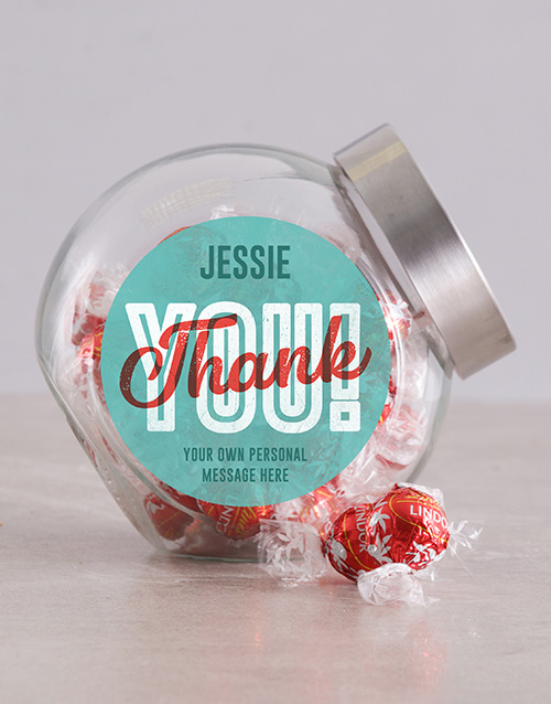 candy-jars: Personalised Vintage Thank You Candy Jar!