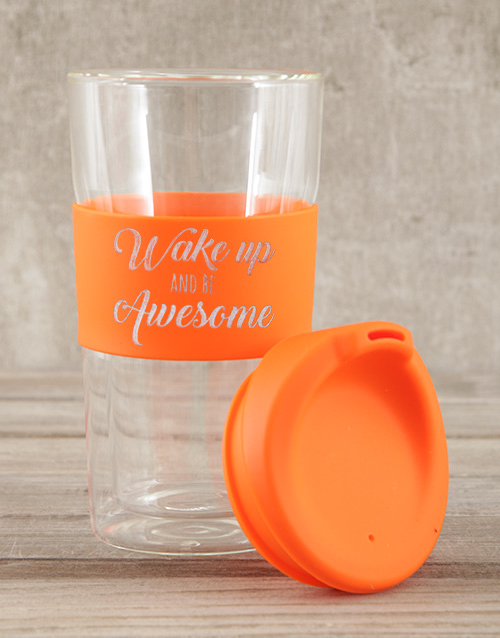 homeware: Personalised Wake Up and Be Awesome Travel Mug!