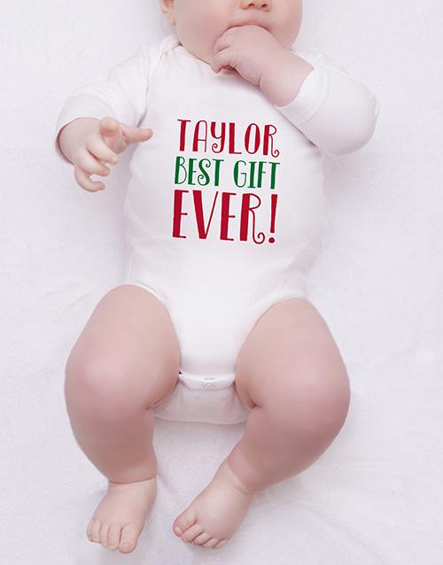 apparel: Personalised Best Gift Ever Onesie!