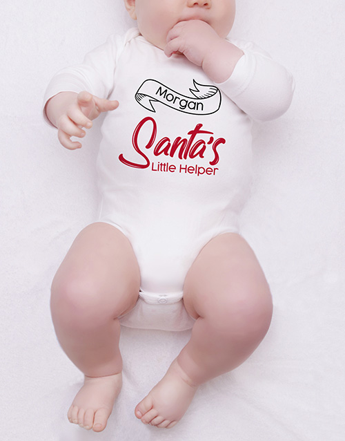 valentines-day: Personalised Santas Little Helper Onesie!