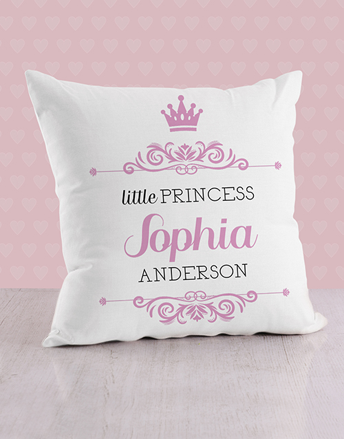 baby: Personalised Twirly Princess Baby Scatter Cushion!