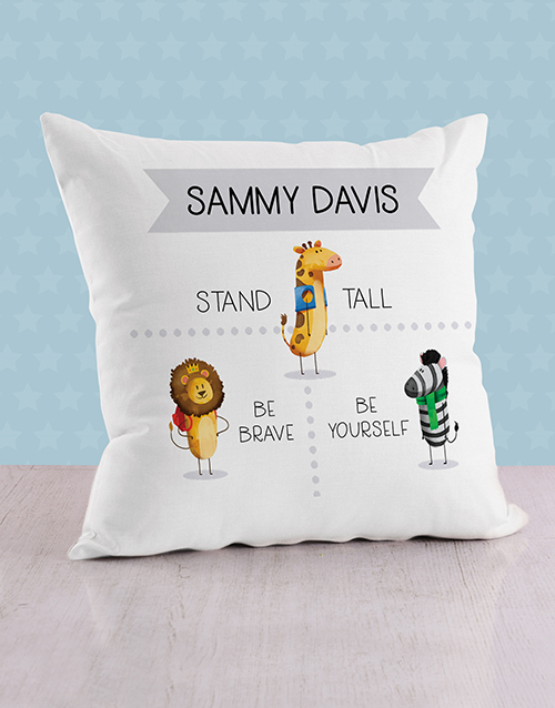 baby: Personalised Stand Tall Baby Scatter Cushion!