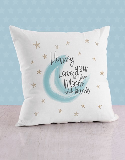 baby: Personalised Moon and Back Baby Scatter Cushion!
