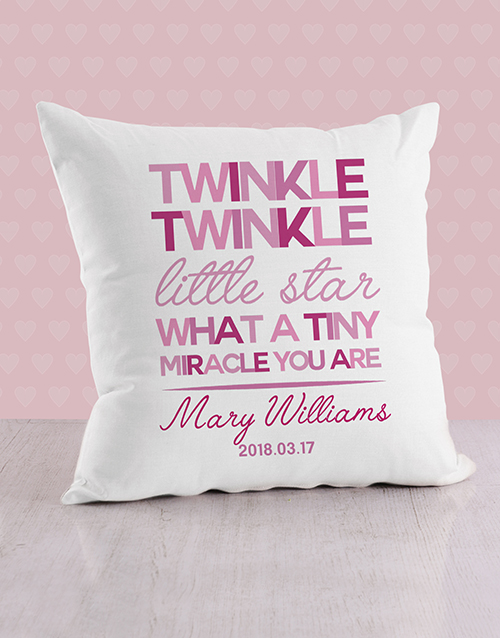 baby: Personalised Twinkle Twinkle Baby Scatter Cushion!