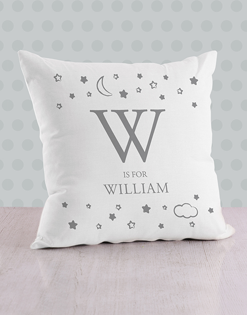 baby: Personalised Moon and Stars Baby Scatter Cushion!