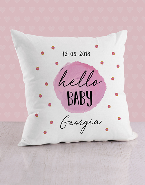 baby: Personalised Purple Dots Baby Scatter Cushion!