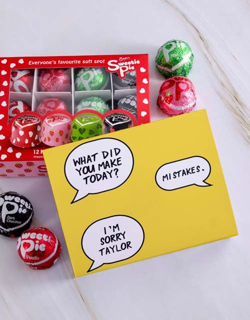 apology: Personalised Sorry Sweetie Pies!
