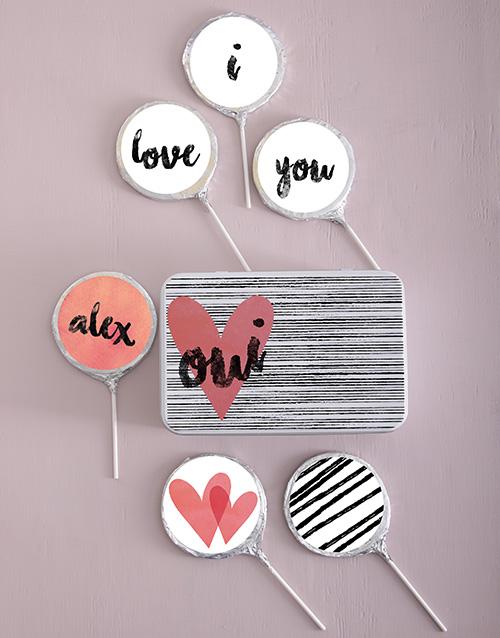 personalised: Personalised Choc Love Lollipops!