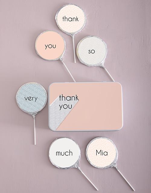 personalised: Personalised Choc Thanks Lollipops!
