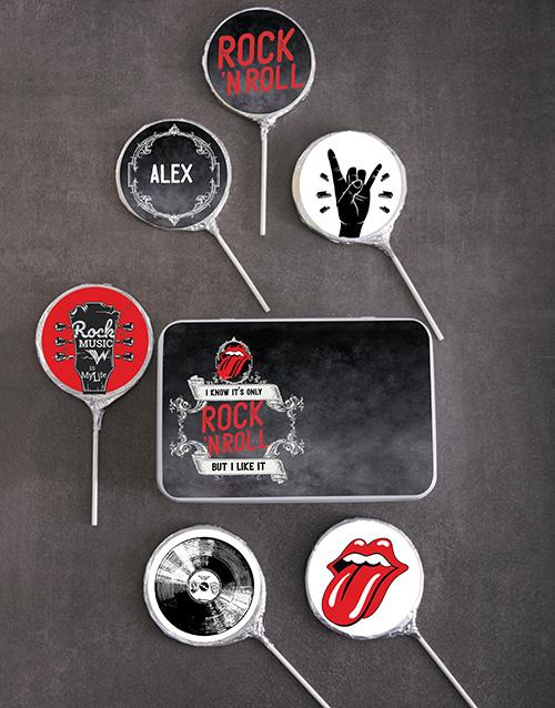 personalised: Personalised Choc Rock n Roll Lollipops!