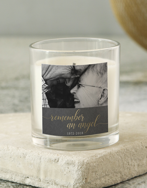 sympathy: Personalised Remember An Angel Candle!
