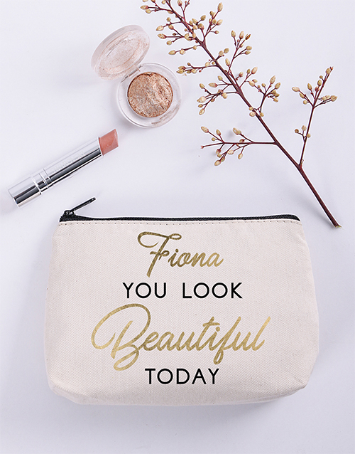 personalised: Personalised Beautiful Cosmetic Bag!