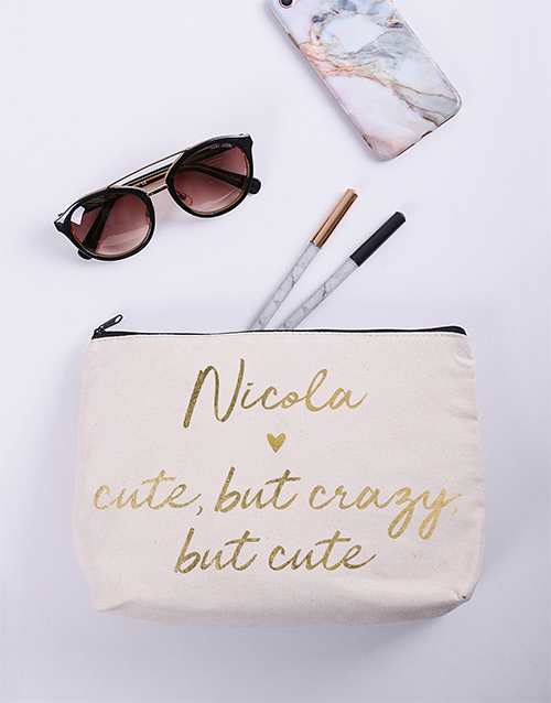 bath-and-body: Personalised Cute Cosmetic Bag!
