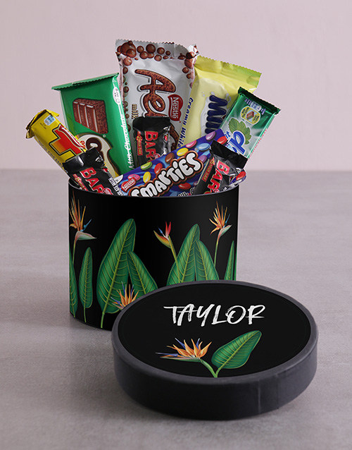 mothers-day: Personalised Paradise Hat Box with Treats!