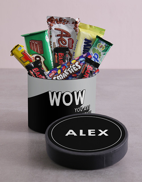 new-years: Personalised Wow Hat Box with Treats!