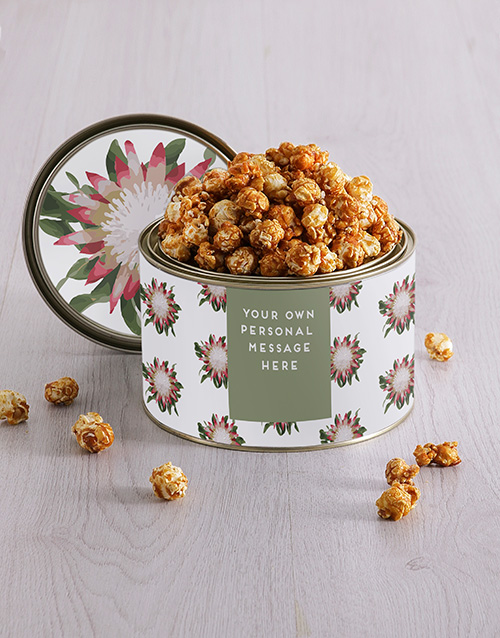 mothers-day: Personalised Protea Popcorn Tin!