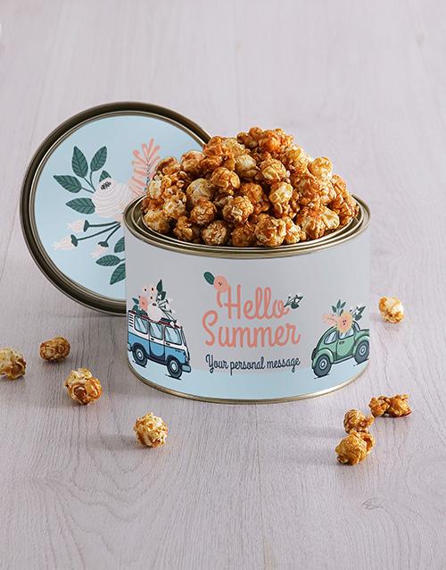 personalised: Personalised Summer Popcorn Tin!