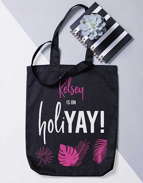personalised: Personalised Holiyay Tote Bag!