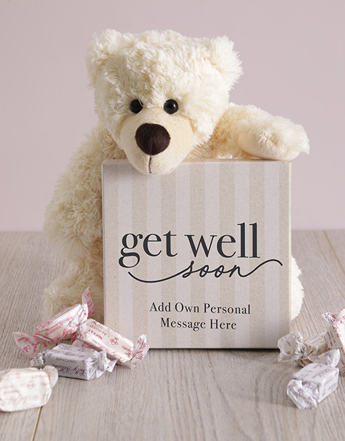 get-well: Personalised Get Well Soon Box of Nougat!