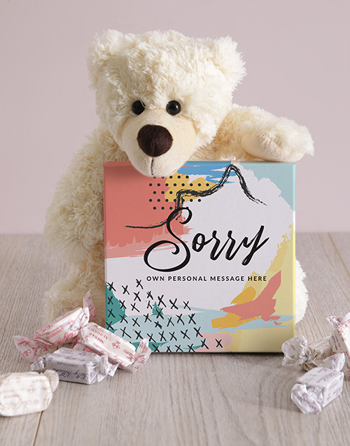 teddy-bears: Personalised Sorry Box of Nougat!