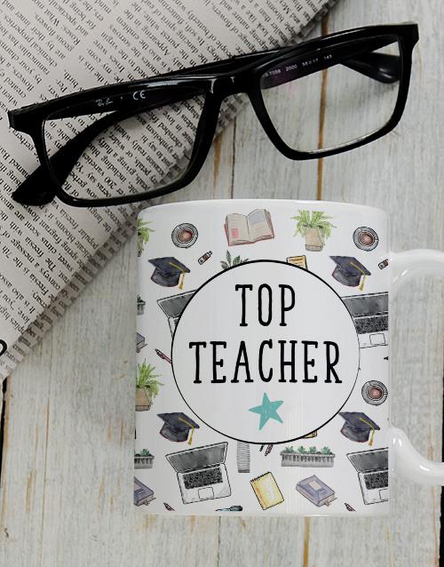 homeware: Personalised Top Teacher Mug Set!